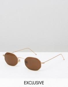 Солнцезащитные очки в стиле ретро Reclaimed Vintage - Золотой
