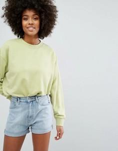Укороченный свитер Weekday - Зеленый