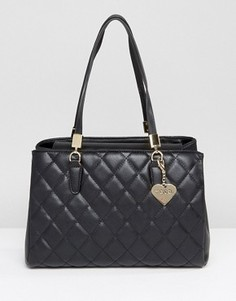 Черная стеганая сумка на плечо Marc B - Черный