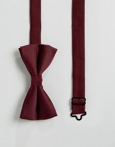 Бордовый галстук-бабочка ASOS - Красный