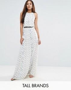 Платье макси с цветочным принтом и металлической отделкой True Decadence Tall - Мульти