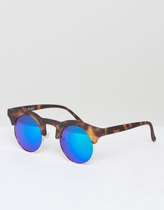 Круглые солнцезащитные очки в черепаховой оправе AJ Morgan Potter - Коричневый