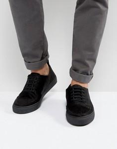 Черные кроссовки с ворсом пони Blood Brother Asura - Черный