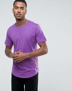 Удлиненная футболка с асимметричным краем Only & Sons - Фиолетовый