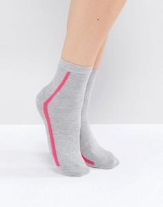 Носки в вертикальную полоску ASOS - Серый