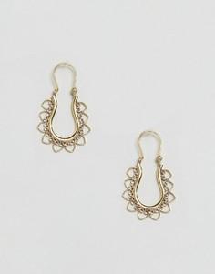 Серьги-кольца из латуни Rock N Rose Amity - Золотой