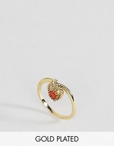 Кольцо с сердоликом для родившихся в июле Rock N Rose - Золотой