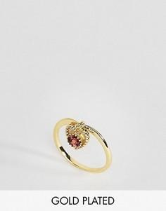 Кольцо с гранатом - камнем для родившихся в январе Rock N Rose - Золотой
