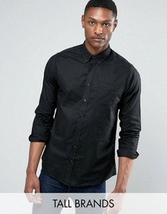 Черная оксфордская рубашка с длинным рукавом Jacamo TALL - Черный