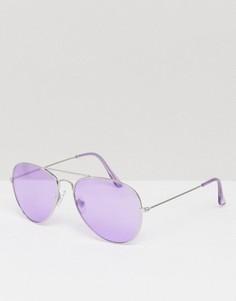 Авиаторы с лиловыми стеклами Jeepers Peepers - Фиолетовый