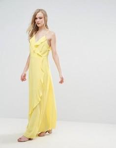 Платье макси с оборками Liquorish - Желтый