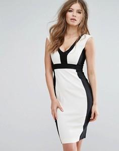 Платье-футляр с V-образным вырезом Vesper - Мульти