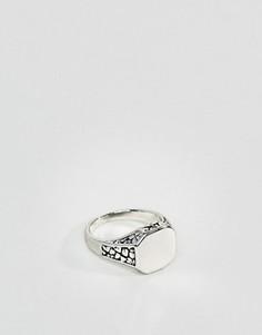 Кольцо на мизинец из шлифованного серебра DesignB эксклюзивно для ASOS - Серебряный