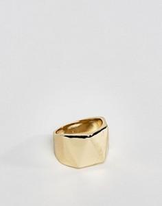 Кольцо-печатка с геометрическим дизайном DesignB эксклюзивно для ASOS - Золотой