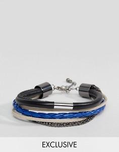 Многорядный браслет (черный/темно-синий) DesignB эксклюзивно для ASOS - Черный