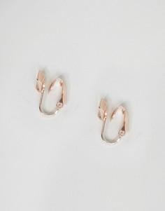 Серьги цвета розового золота DesignB эксклюзивно для ASOS - Золотой