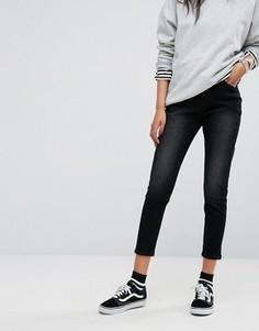 Узкие джинсы в винтажном стиле с завышенной талией Liqour & Poker - Черный
