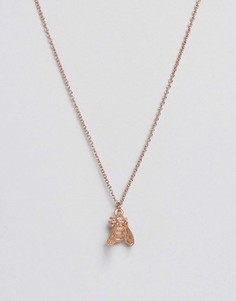 Покрытое розовым золотом ожерелье с пчелой Bill Skinner - Золотой