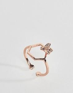 Покрытое розовым золотом кольцо Bill Skinner - Золотой