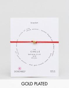 Красный регулируемый браслет-шнурок с позолоченной подвеской Dogeared - Красный