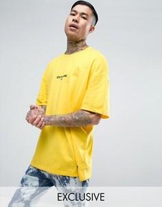 Желтая oversize-футболка с логотипом Sixth June - Желтый