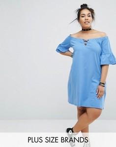 Платье с открытыми плечами Pink Clove - Синий