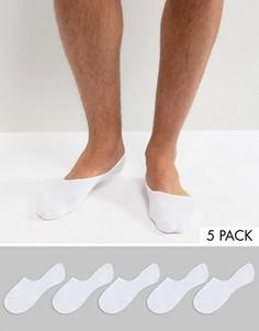 Набор из 5 пар невидимых носков Burton Menswear - Белый