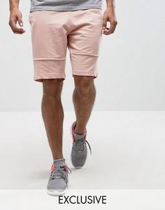 Трикотажные шорты с декоративными швами Brooklyn Supply Co - Розовый