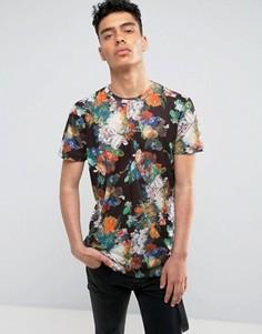 Черная футболка с цветочным принтом Criminal Damage - Черный