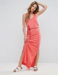 Платье макси с плетеным ремнем Brave Soul Beck - Красный