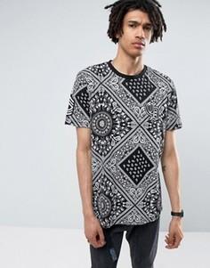 Черная футболка с платочным принтом Criminal Damage - Черный