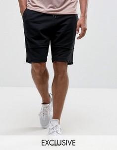 Трикотажные шорты с декоративными швами Brooklyn Supply Co - Черный