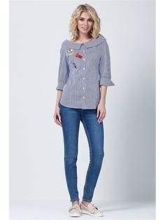 226dcb55fae Купить женские блузки с коротким рукавом в полоску в интернет ...