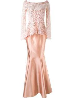 maxi dress and renascença lace blouse Martha Medeiros