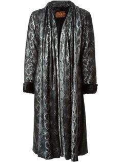 пальто с принтом змеиной кожи  Yves Saint Laurent Vintage