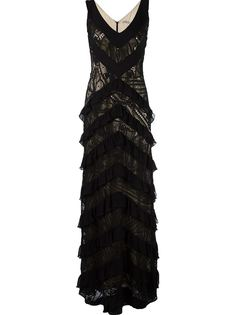 lace applique maxi dress Martha Medeiros