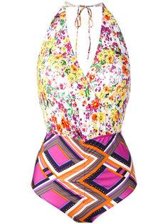 Patchwork print swimsuit Roseanna