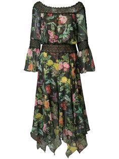 платье с цветочным узором Tadashi Shoji