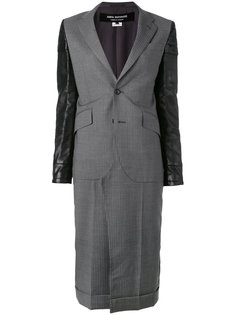 пальто с кожаными вставками Junya Watanabe Comme Des Garçons