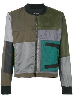 куртка-бомбер в стиле пэчворк Longjourney