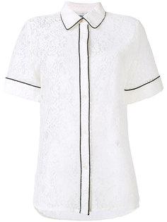кружевная рубашка с контрастной окантовкой Essentiel Antwerp