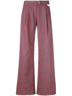 расклешенные полосатые брюки  Cycle