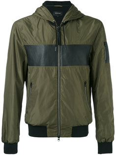 куртка-бомбер с контрастной панелью Mackage