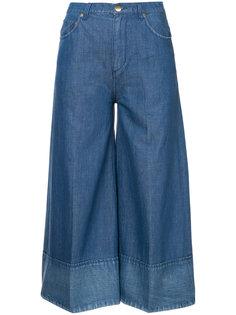 широкие укороченные джинсы  Co