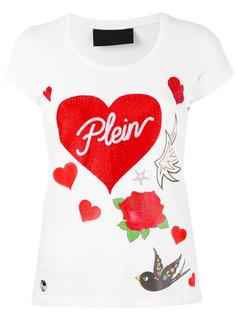 футболка с принтом сердец Philipp Plein
