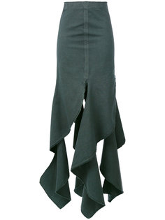 длинна юбка с драпированными панелями J.W.Anderson