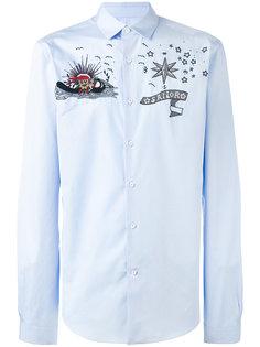 рубашка с вышивкой из бусин Valentino