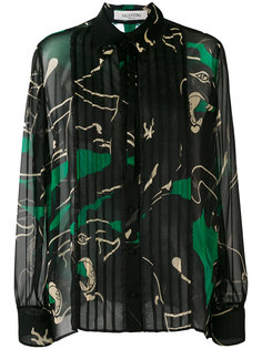 прозрачная блузка с узором Valentino
