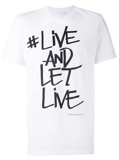 футболка с принтом Live And Let Live Neil Barrett