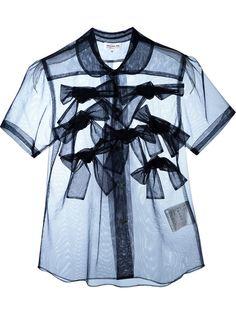 прозрачная блузка с аппликацией  Comme Des Garçons Girl